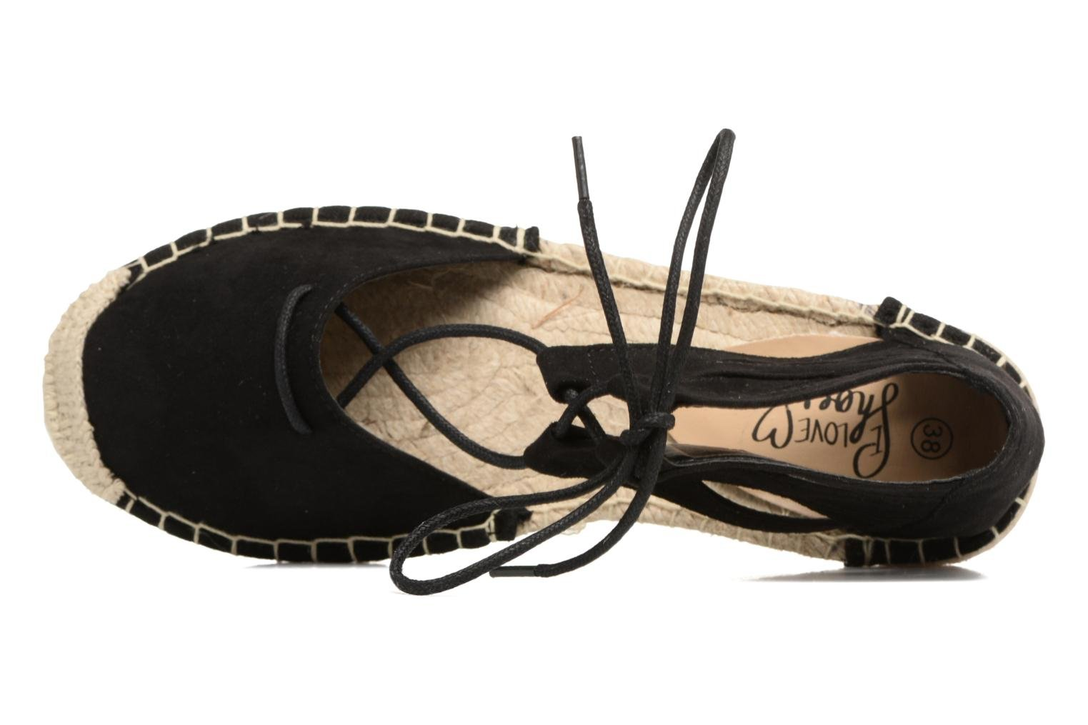 Alpargatas I Love Shoes THYADE Negro vista lateral izquierda