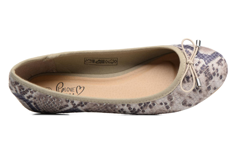 Bailarinas I Love Shoes THENSELY Beige vista lateral izquierda