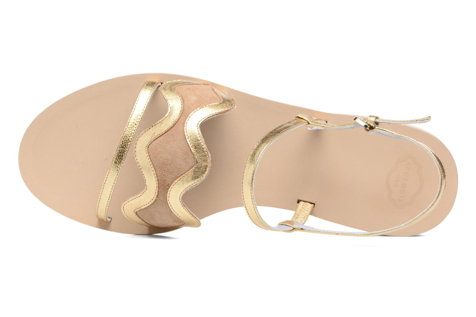 Sandalen Apologie Nemo gold/bronze ansicht von links