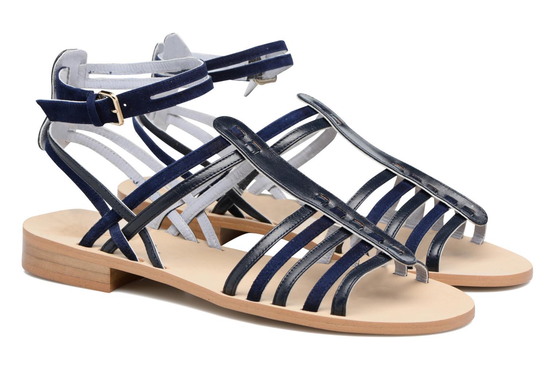 Sandales et nu-pieds Apologie Medusa Bleu vue 3/4