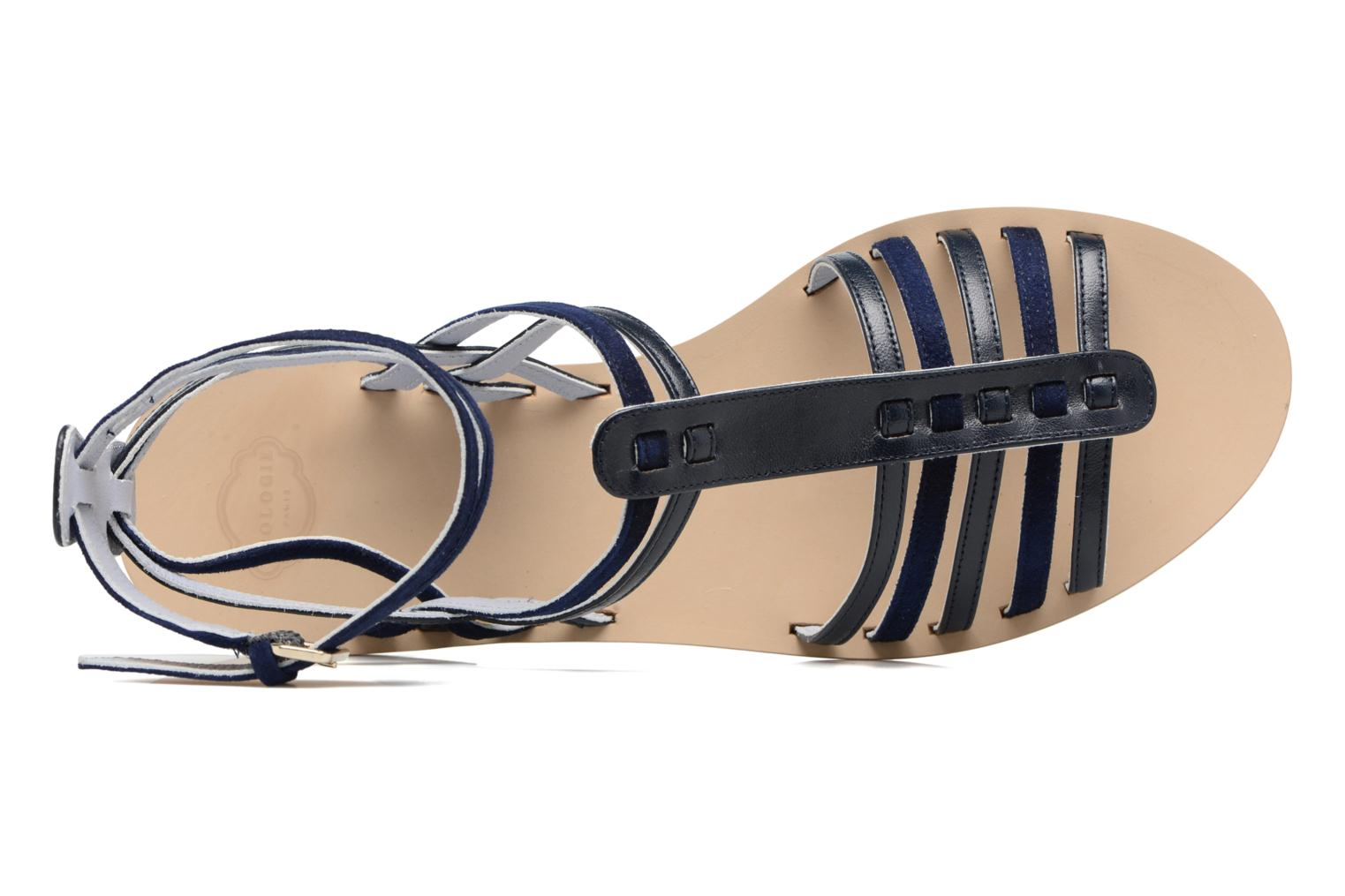Sandals Apologie Medusa Blue view from the left