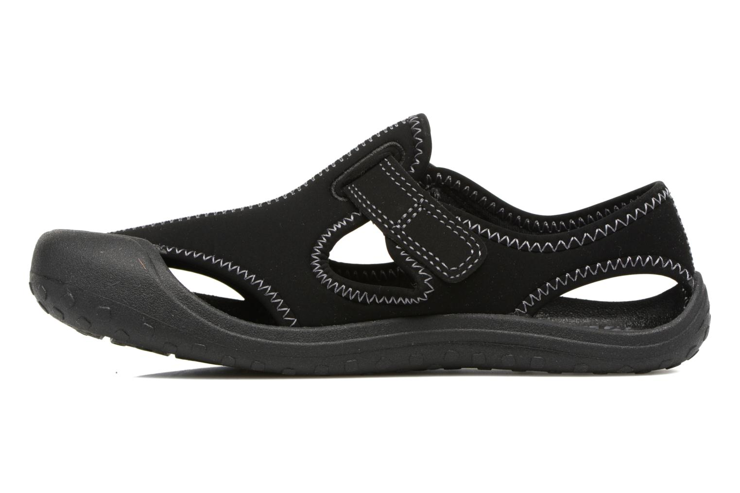 Sandals Nike Nike Sunray Protect (Ps) Black front view