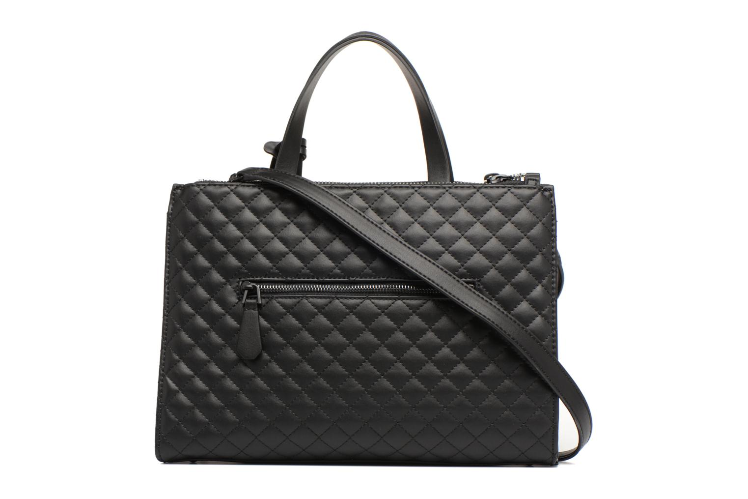Handbags Guess G Lux Status Satchel Black front view
