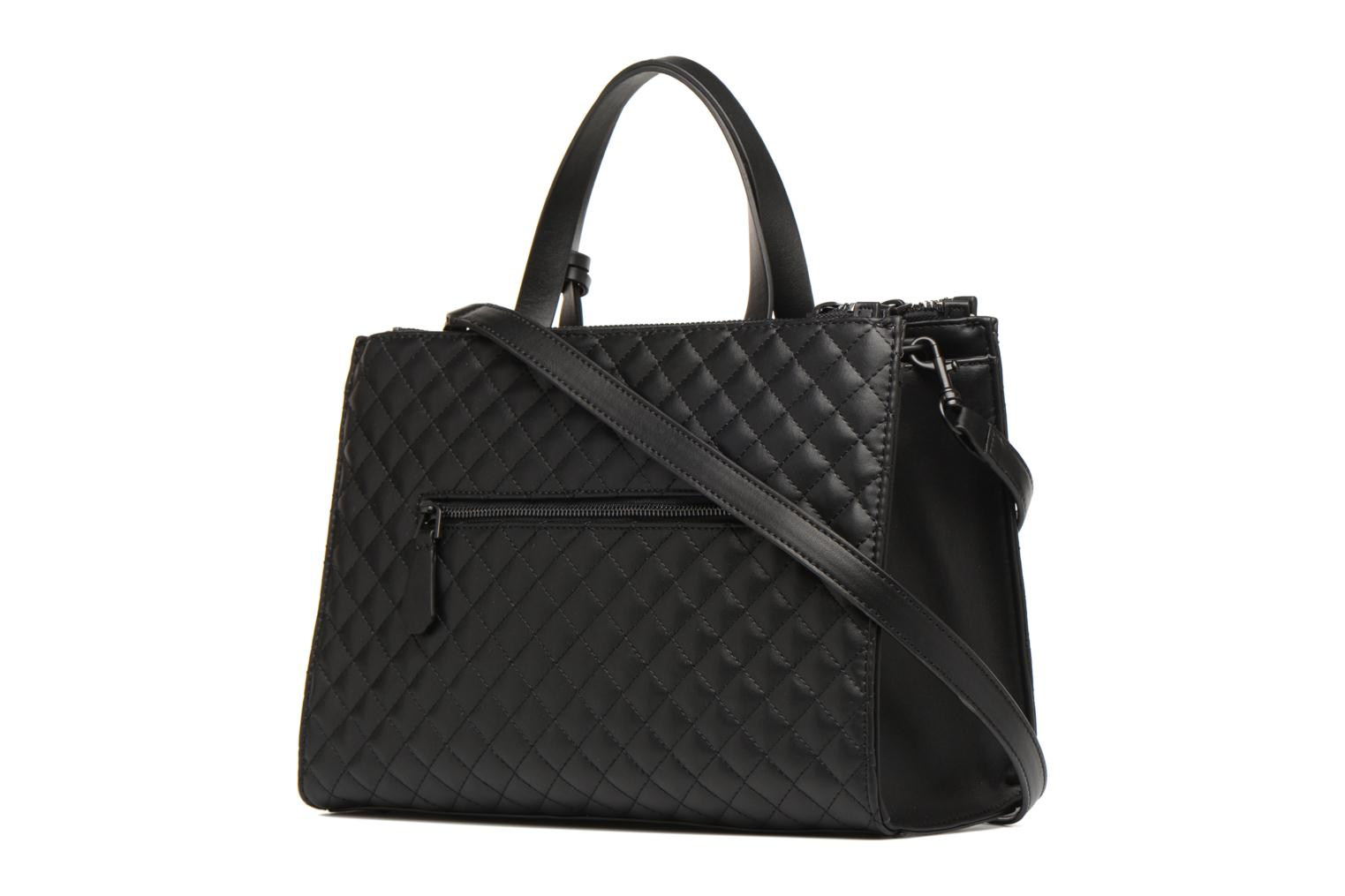 Handbags Guess G Lux Status Satchel Black view from the right