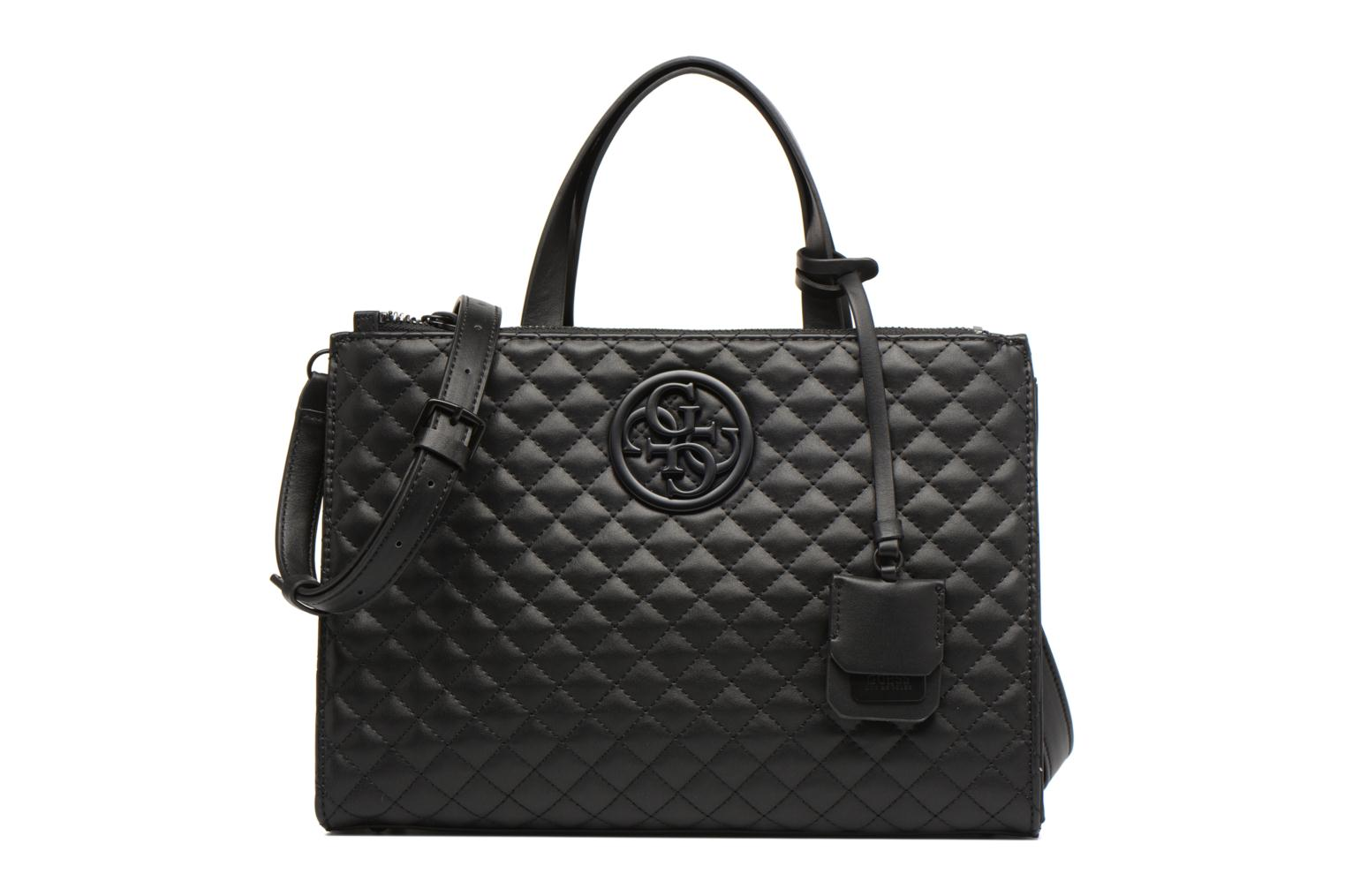 Handbags Guess G Lux Status Satchel Black detailed view/ Pair view