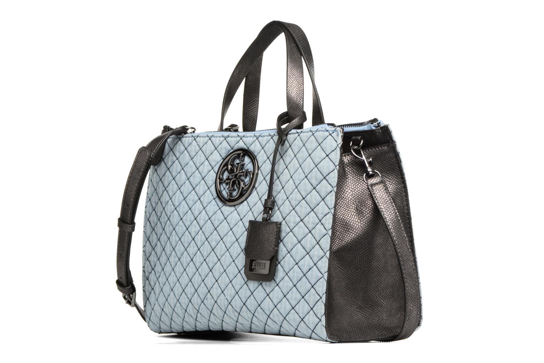 Handtaschen Guess G Lux Status Satchel blau schuhe getragen