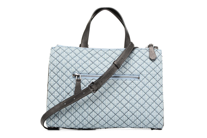 Handtaschen Guess G Lux Status Satchel blau ansicht von vorne