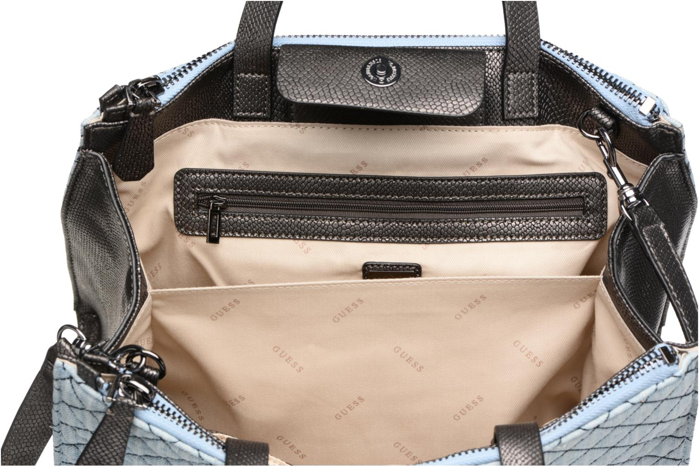 Handbags Guess G Lux Status Satchel Blue back view