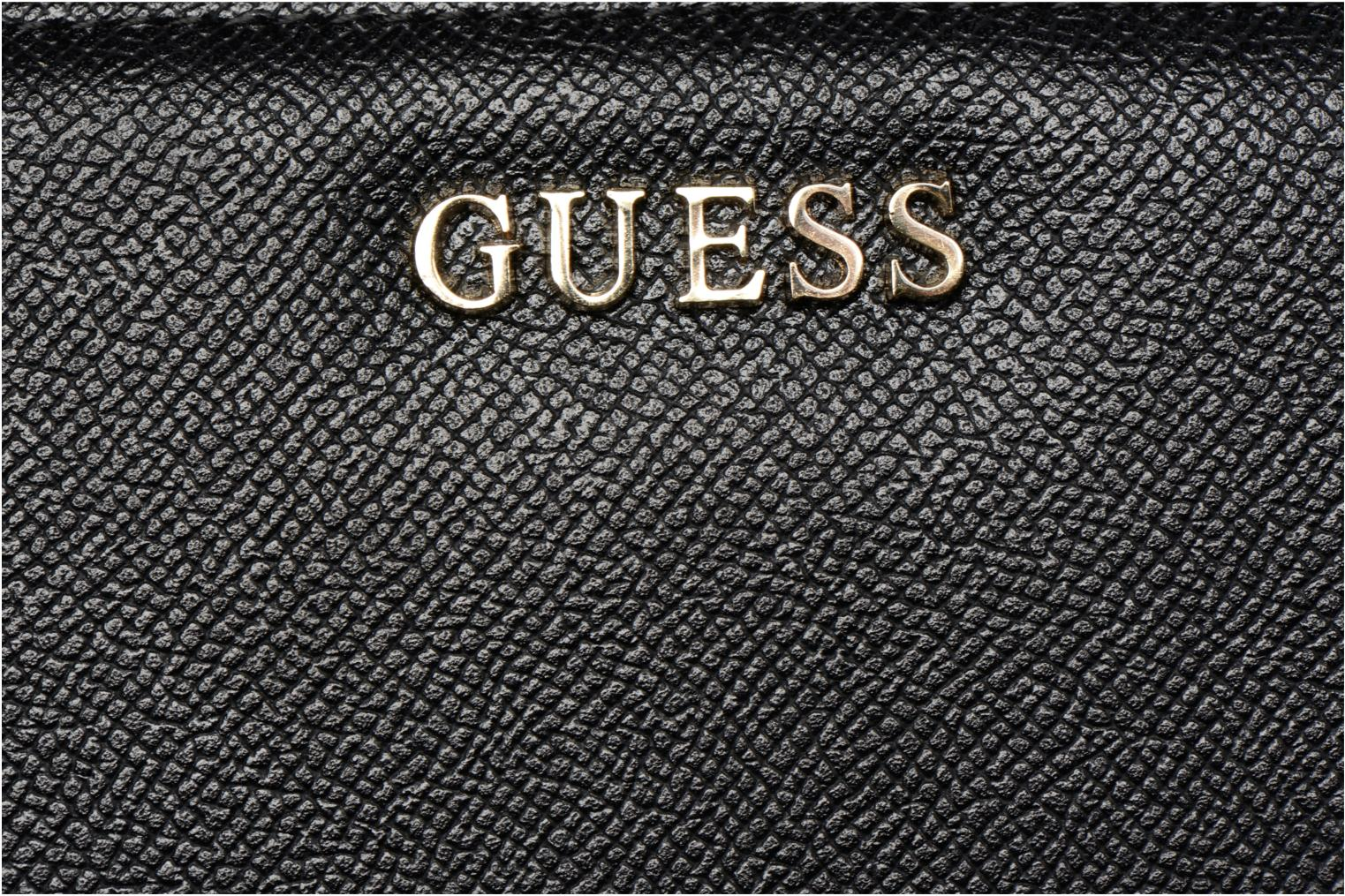 Kleine lederwaren Guess Isabeau Large zip around Zwart links