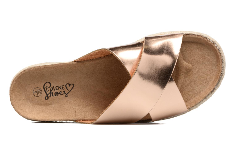Clogs & Pantoletten I Love Shoes KANE gold/bronze ansicht von links