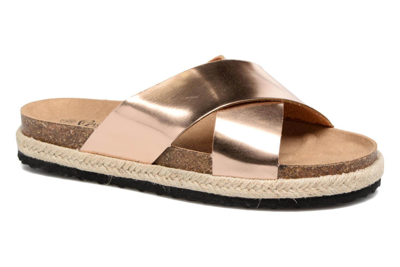 Clogs og træsko I Love Shoes KANE Guld og bronze detaljeret billede af skoene