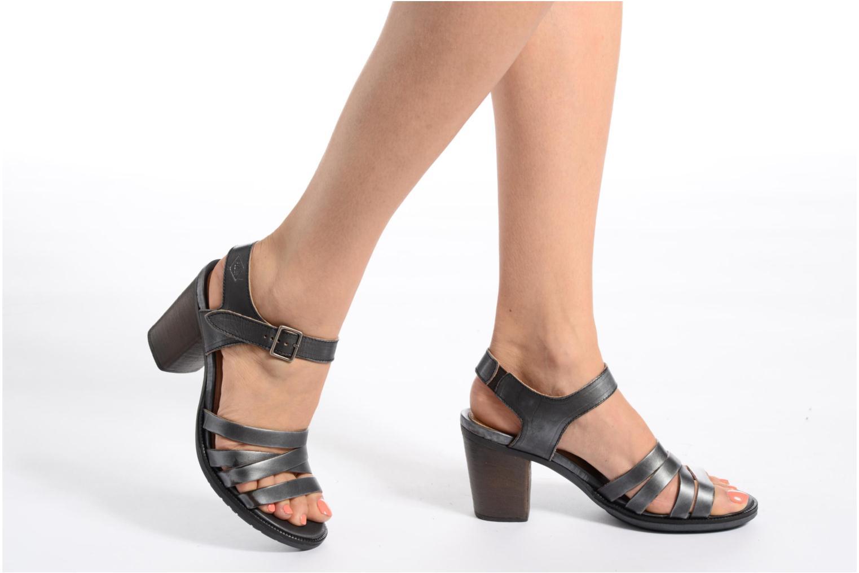 Sandales et nu-pieds P-L-D-M By Palladium Gaya Veg Mtl Gris vue bas / vue portée sac
