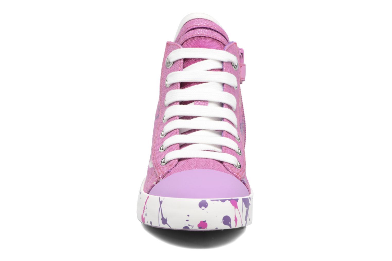 Baskets Geox J Ciak G. C J7204C Rose vue portées chaussures