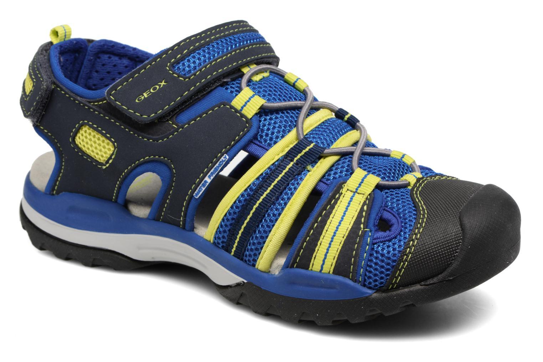 Sandales et nu-pieds Geox J Borealis B.C J720RC Bleu vue détail/paire