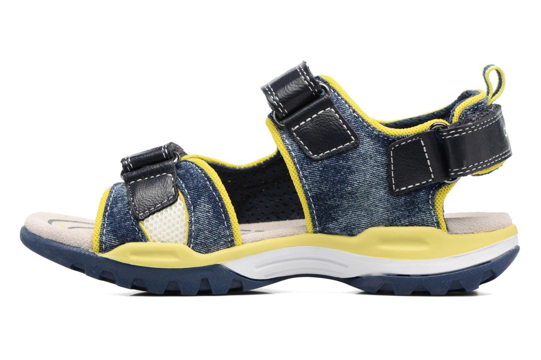 Sandales et nu-pieds Geox J Borealis B. D J720RD Bleu vue face