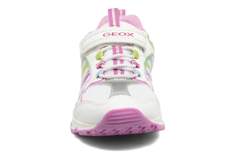 Baskets Geox J Bernie G. J7211A Blanc vue portées chaussures
