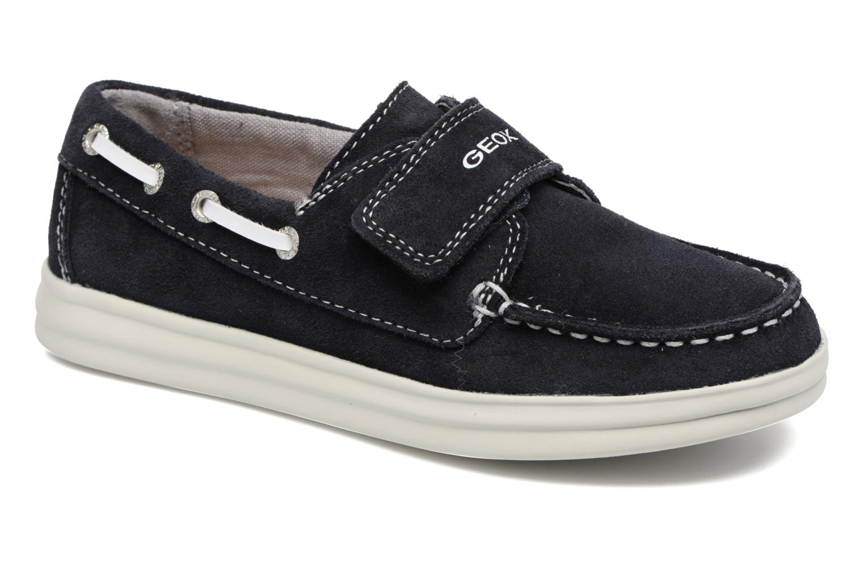 Chaussures à scratch Geox J Anthor B. F J723HF Bleu vue détail/paire