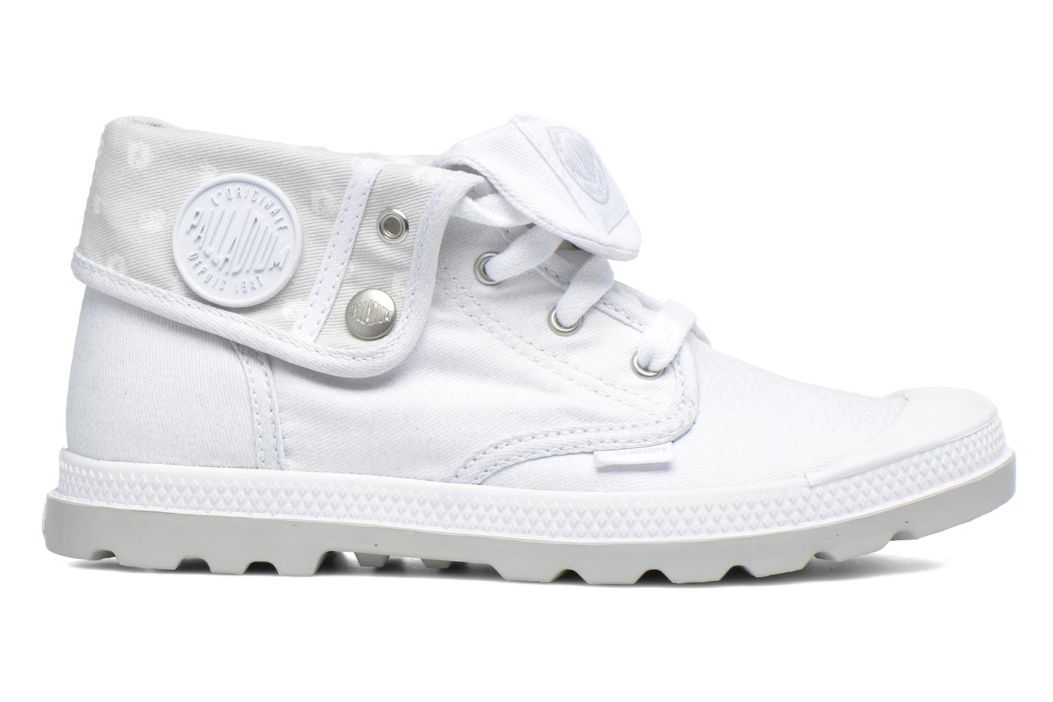 Baskets Palladium Bgy Low Lp Mtlk Blanc vue derrière