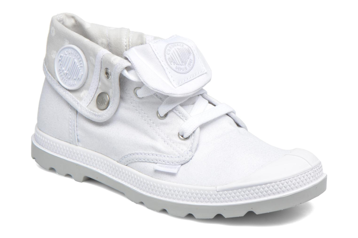Baskets Palladium Bgy Low Lp Mtlk Blanc vue détail/paire