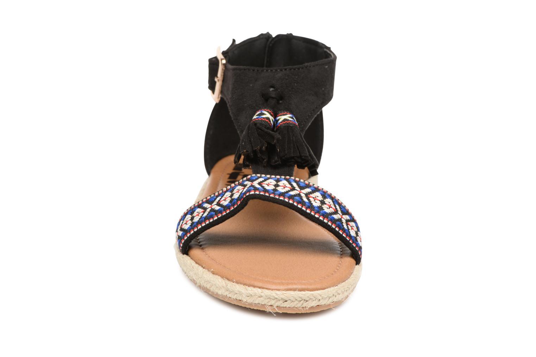 Sandales et nu-pieds Refresh Inka Noir vue portées chaussures