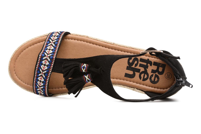 Sandales et nu-pieds Refresh Inka Noir vue gauche