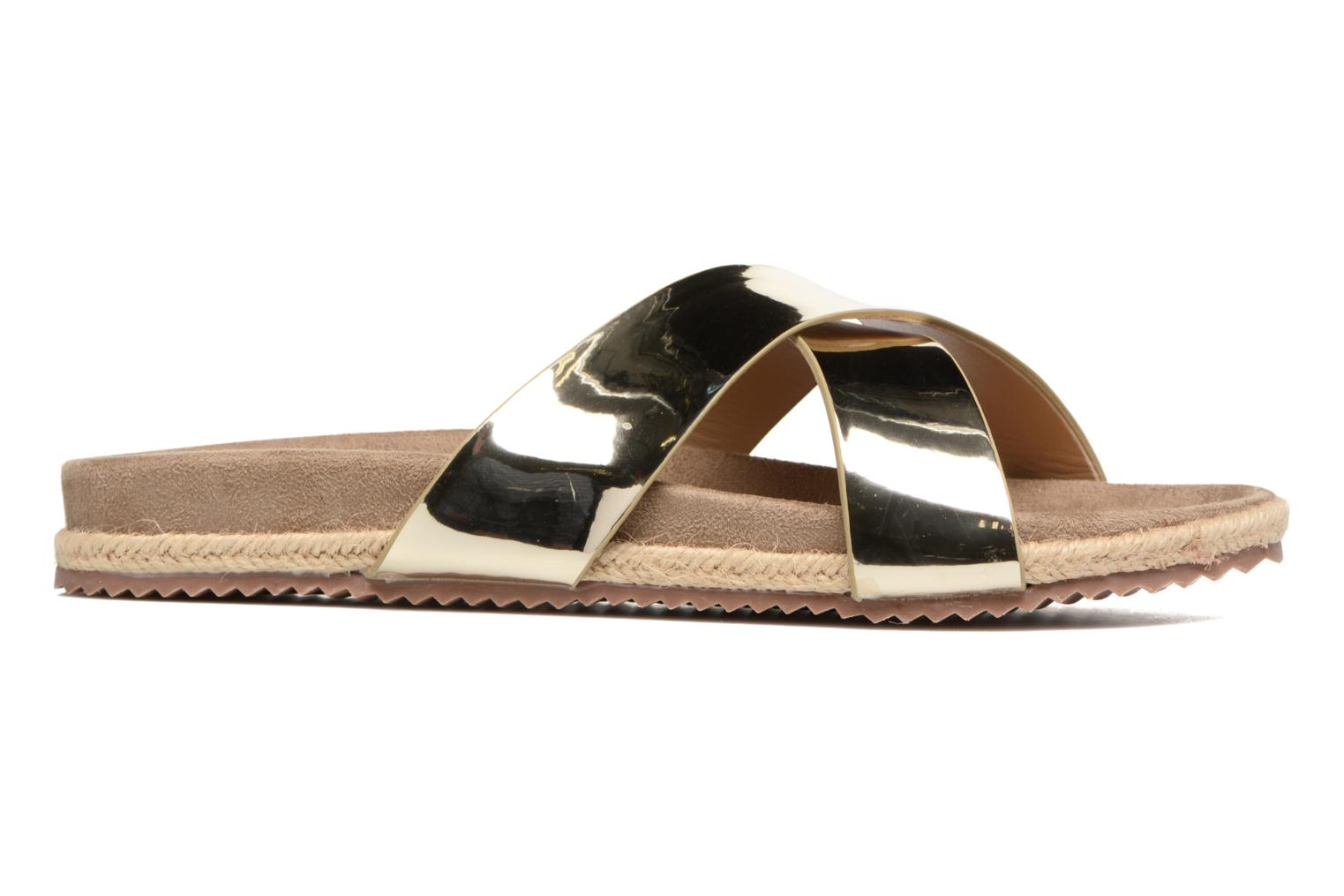 Mules & clogs Refresh Qiwin Bronze and Gold back view