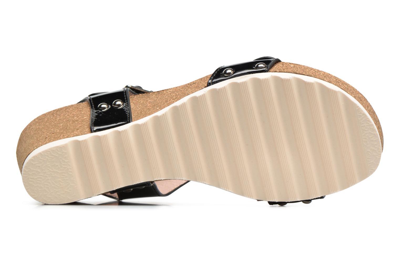 Sandales et nu-pieds Refresh Nach Noir vue haut