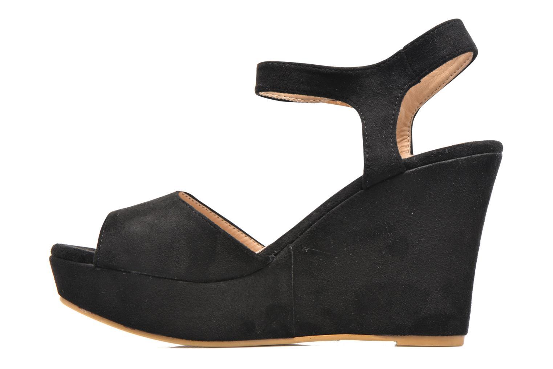 Sandales et nu-pieds Refresh Mack Noir vue face