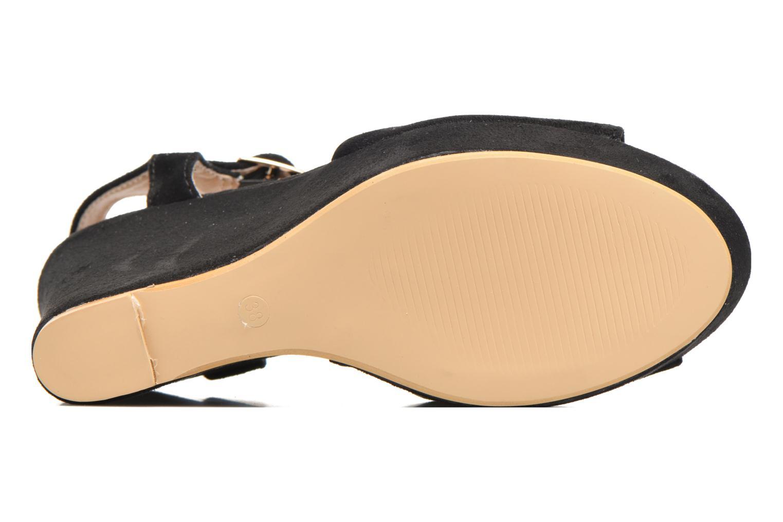 Sandales et nu-pieds Refresh Mack Noir vue haut