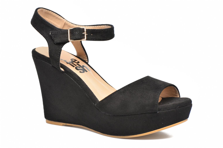 Sandales et nu-pieds Refresh Mack Noir vue détail/paire