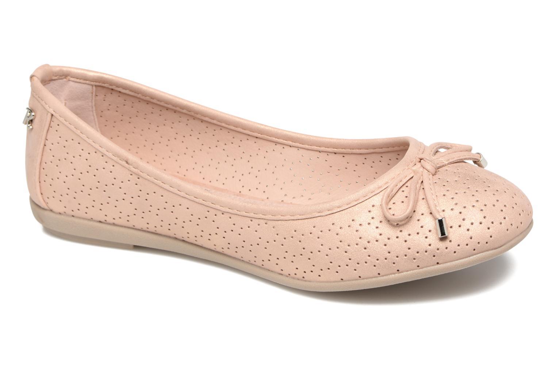 Ballerinaer Refresh Ilvis Beige detaljeret billede af skoene