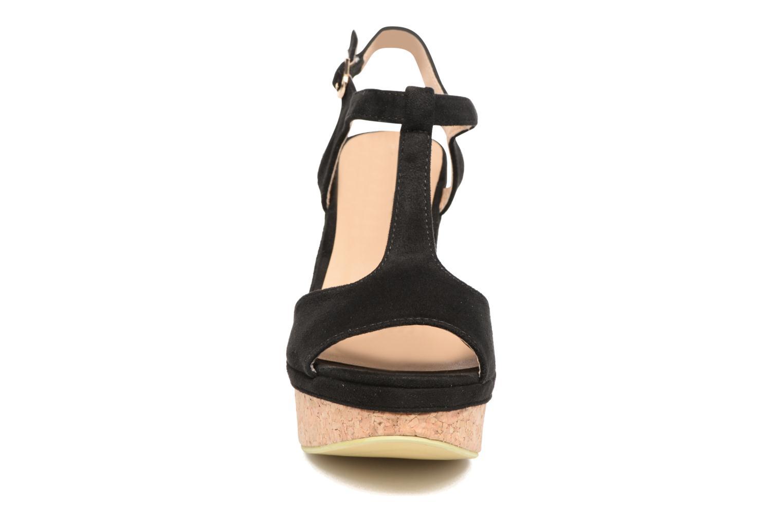 Sandales et nu-pieds Refresh Pero Noir vue portées chaussures