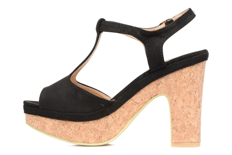 Sandales et nu-pieds Refresh Pero Noir vue face
