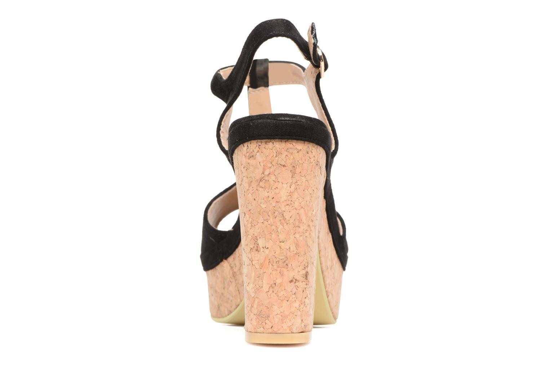 Sandales et nu-pieds Refresh Pero Noir vue droite