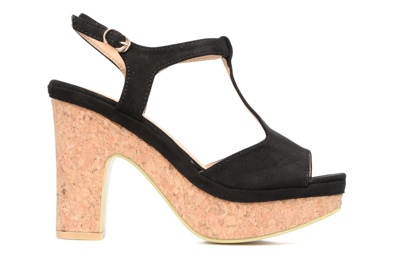 Sandales et nu-pieds Refresh Pero Noir vue derrière