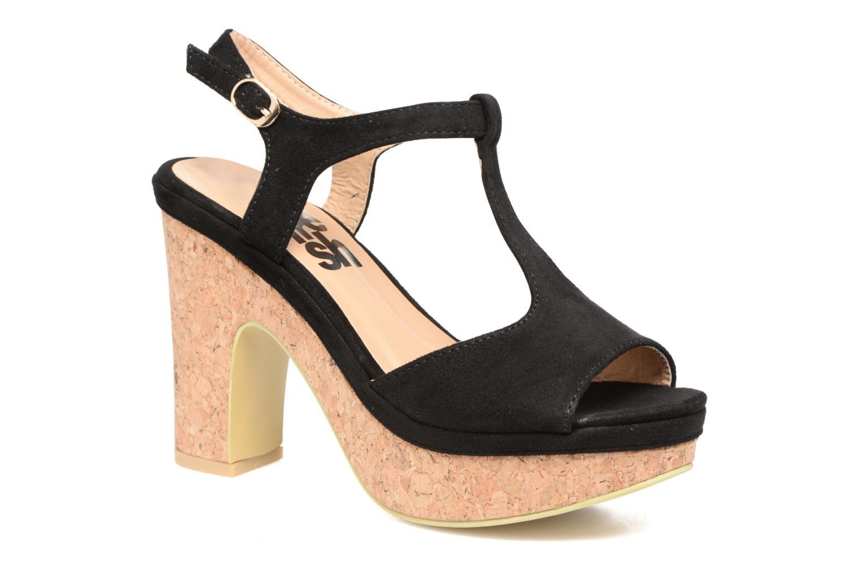 Sandales et nu-pieds Refresh Pero Noir vue détail/paire