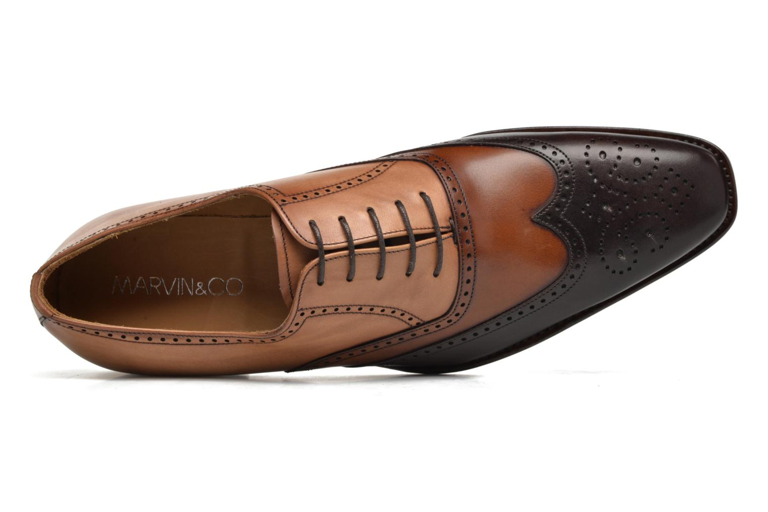 Chaussures à lacets Marvin&Co Luxe Walton-on - Cousu Goodyear Marron vue gauche