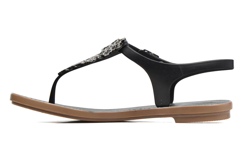 Sandalias Grendha Romantic Sandal Fem Negro vista de frente