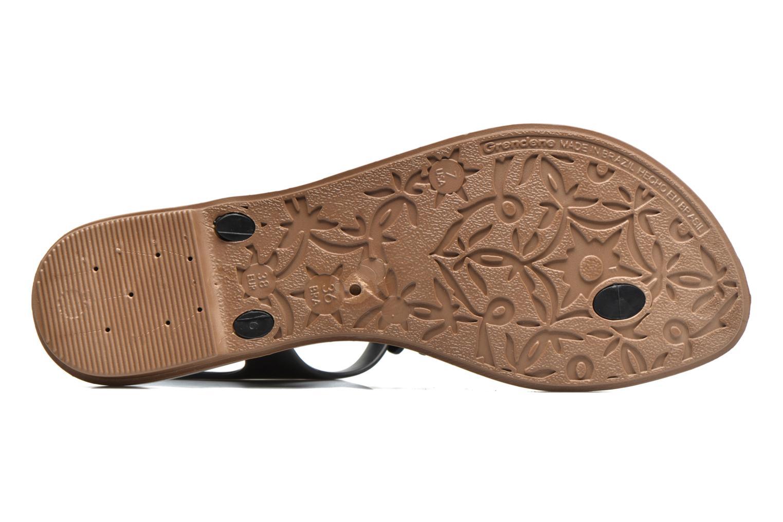 Sandalias Grendha Romantic Sandal Fem Negro vista de arriba