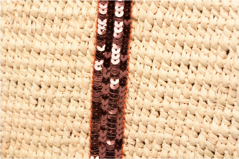 Cabas raphia paillettes L Fidji