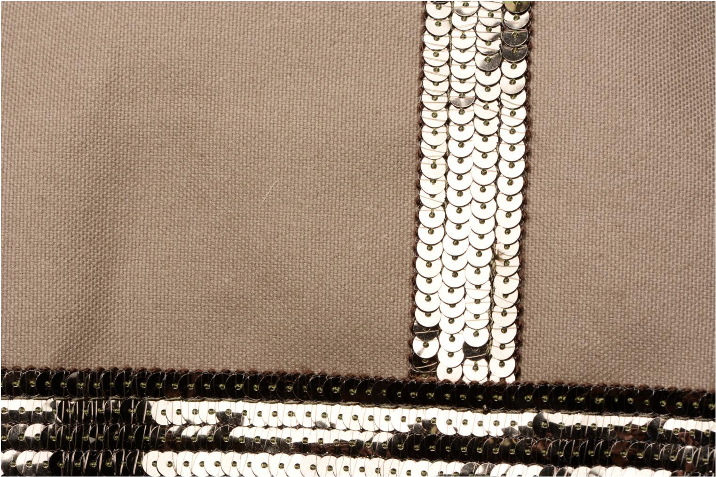 Cabas coton zippé paillettes M+ Olive