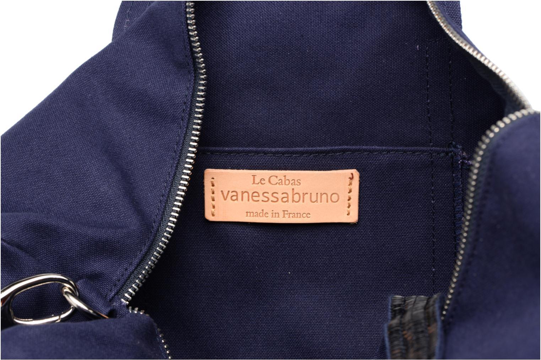 Sporttassen Vanessa Bruno Gym bag paillettes Blauw achterkant
