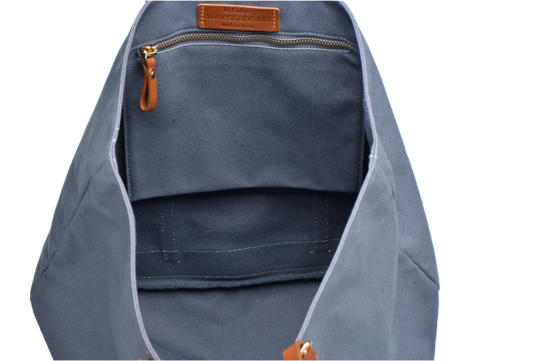 Cabas coton et cuir M+ Azur
