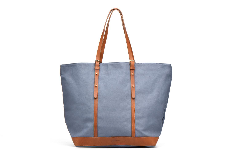 Sacs à main Vanessa Bruno Cabas coton et cuir M+ Bleu vue détail/paire