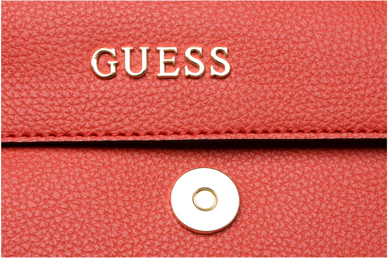 Sacs pochettes Guess TULIP Envelope clutch Rouge vue gauche