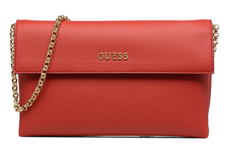 Sacs pochettes Guess TULIP Envelope clutch Rouge vue détail/paire