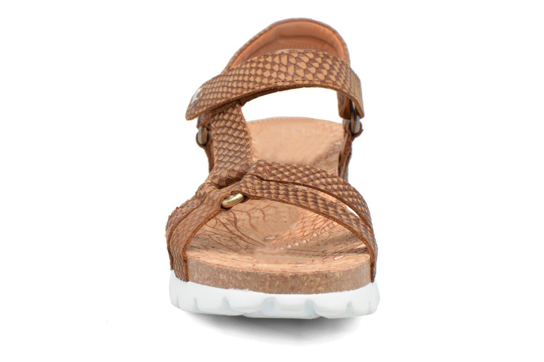 Sandales et nu-pieds Panama Jack Sally snake Marron vue portées chaussures