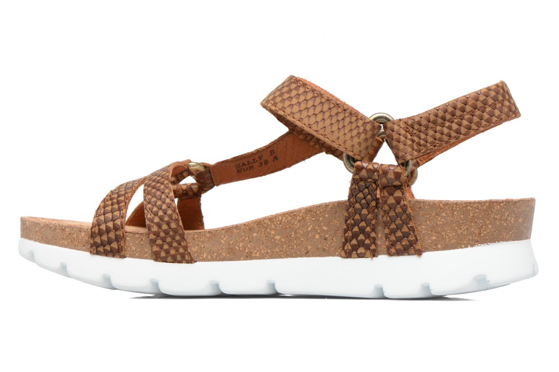 Sandales et nu-pieds Panama Jack Sally snake Marron vue face