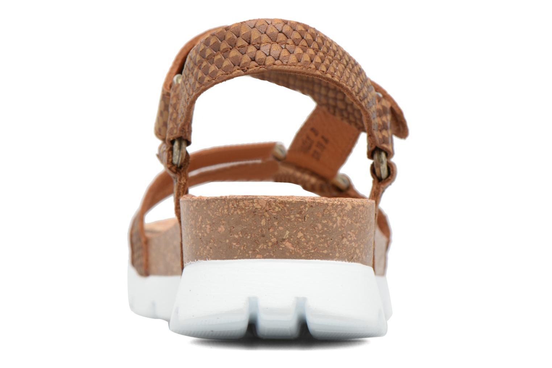 Sandales et nu-pieds Panama Jack Sally snake Marron vue droite