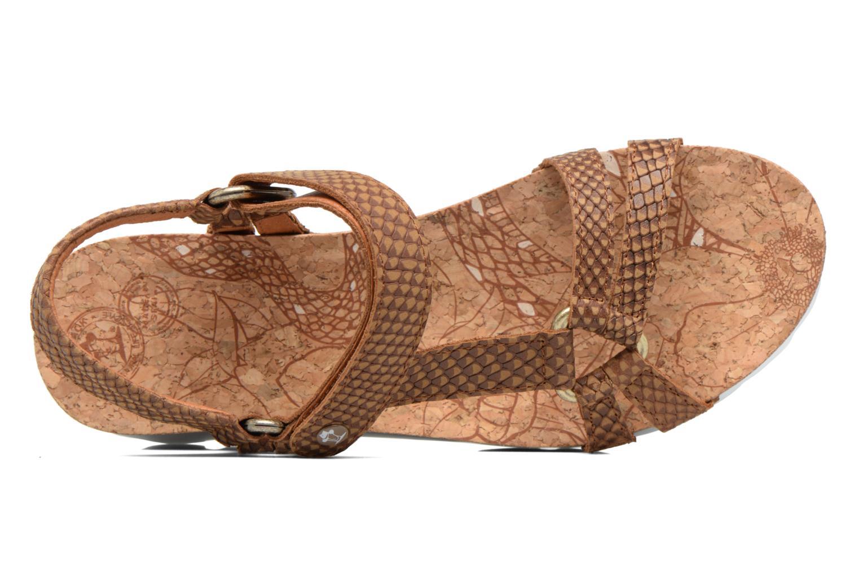 Sandales et nu-pieds Panama Jack Sally snake Marron vue gauche